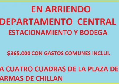 DEPARTAMENTO CENTRAL CHILLAN